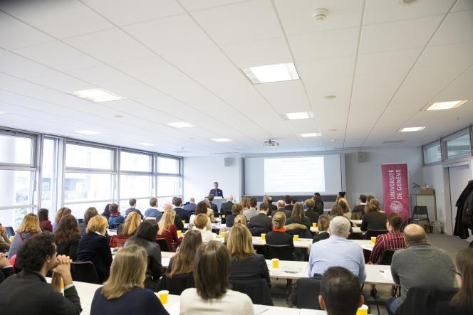 Conférence à l'université de Genève dans le cadre du Centre en philanthropie, le 21 novembre 2017.