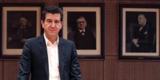 Le banquier d'affaires Matthieu Pigasse, co-actionnaire du groupeLe Monde, à Paris, le 28 mars 2014.