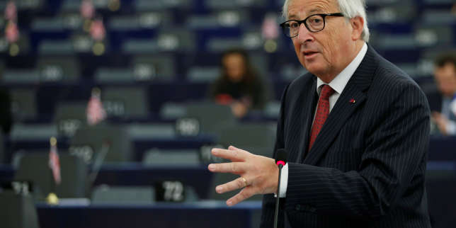European Commission president Jean-Claude Juncker addresses the European Parliament during a debate on the future of Europe, at the European Parliament in Strasbourg, France, October 23, 2018. REUTERS/Vincent Kessler
