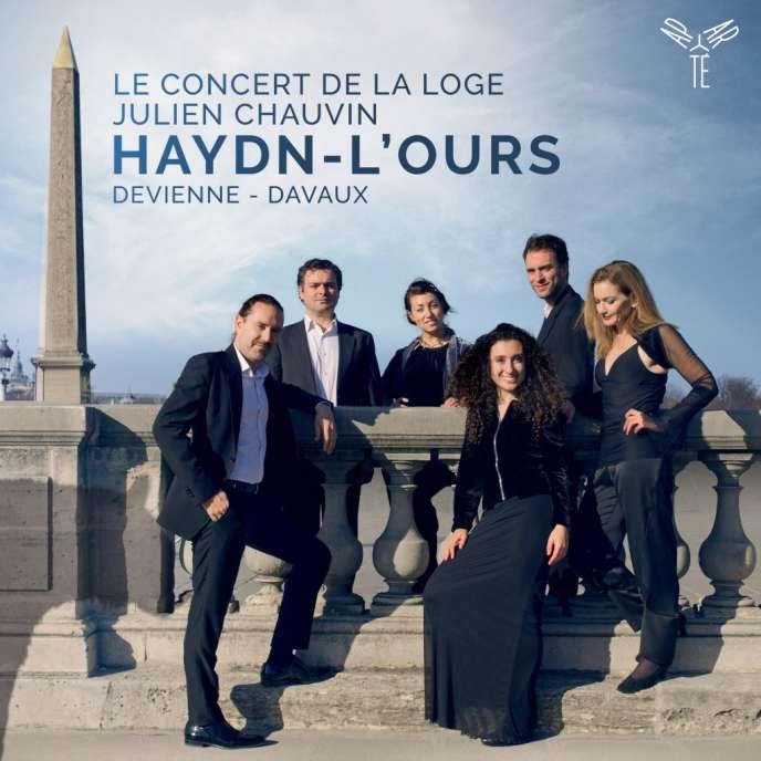 Pochette de l'album« Haydn‒ L'Ours, Devienne‒ Davaux», par Le Concert de la Loge, Julien Chauvin (violon et direction).