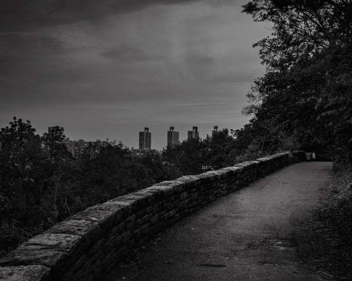 Fort Tryon Park, à la tombée de la nuit,dans le nord de Manhattan.