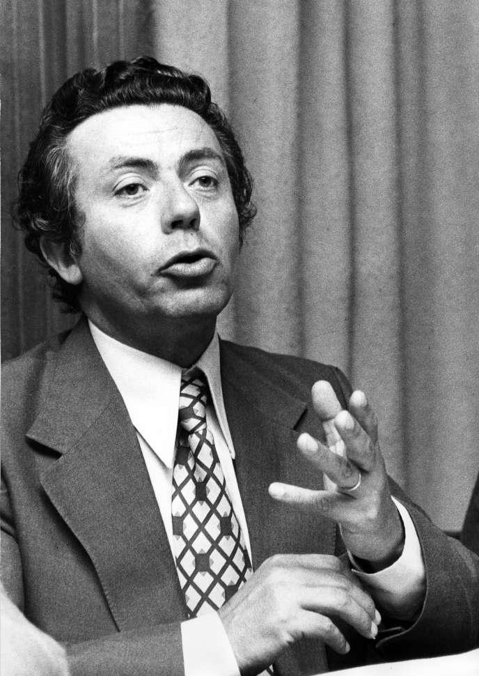 Yvan Charpentié,ancien président de la Confédération générale des cadres (CGC), photographié entre 1975 et 1979.
