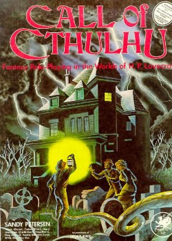 La première édition du jeu de rôle« L'appel de Cthulhu».