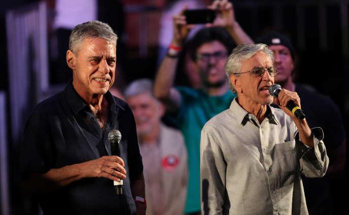 Caetano Veloso (à droite), le 23 octobre à Rio de Janeiro.