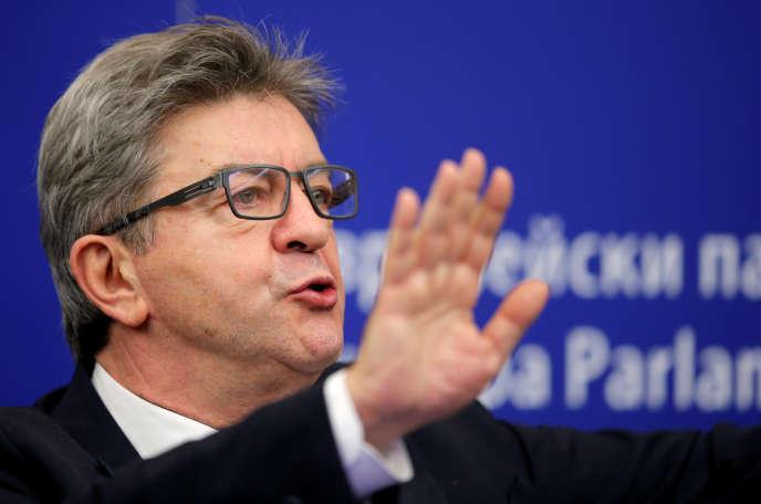 Jean-Luc Mélenchon, au Parlement européen, le 24 octobre.