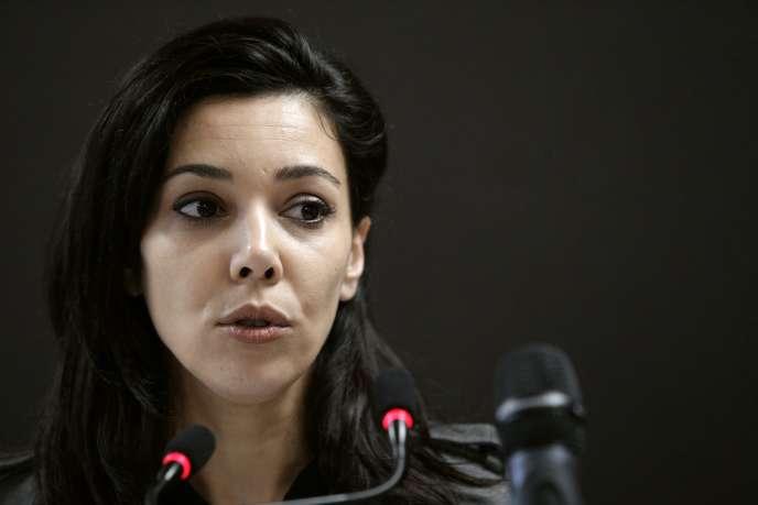 Sophia Chikirou, ancienne directrice de la communication de Jean-Luc Mélenchon, à Paris, en janvier 2017.
