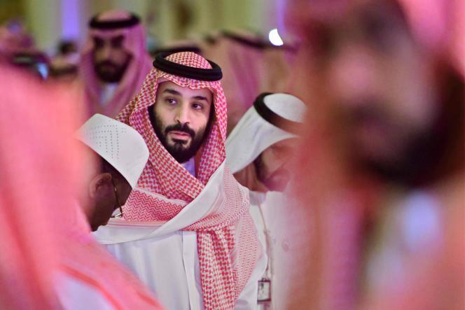 L'héritier du trône saoudien, Mohammed Ben Salman, le 24 octobre, lors d'un forum économique organisé à Riyad.