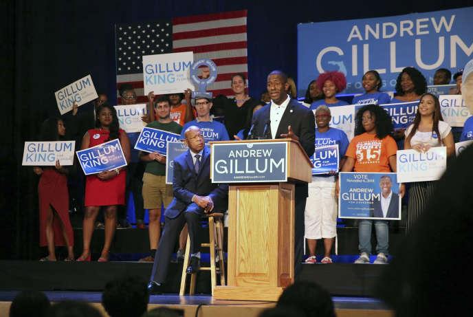 Andrew Gillum, candidat au poste de gouverneur de Floride, le 25 octobre à Miami.