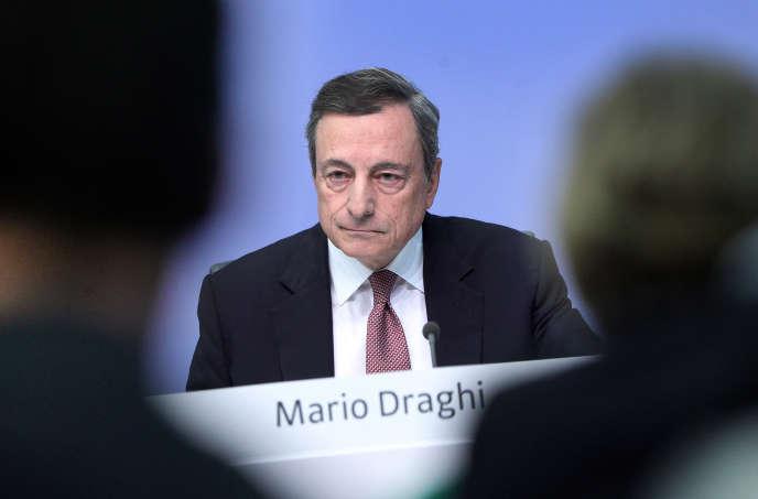 Mario Draghi, président de la Banque centrale européenne, à Francfort, le 13 septembre.