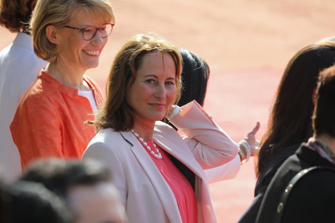Ségolène Royal, lors de la visite d'Emmanuel Macron à New Dehli, le 10 mars.