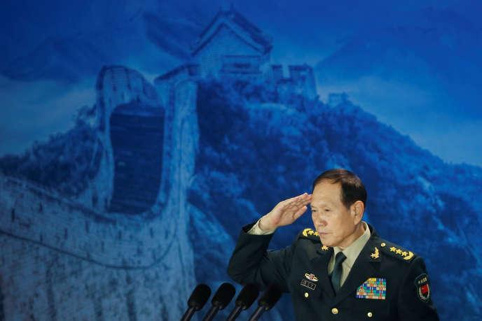 Le ministre chinois de la défense Wei Fenghe le 25 octobre à Pékin.