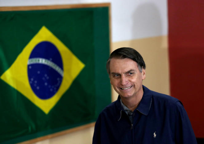 Jair Bolsonaro, le 7 octobre lors du premier tour à Rio.