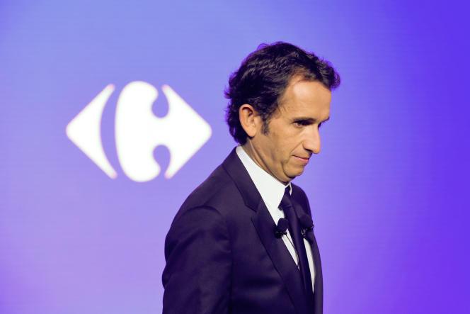 Alexandre Bompard, PDG de Carrefour, à La Defense, le 23 janvier.