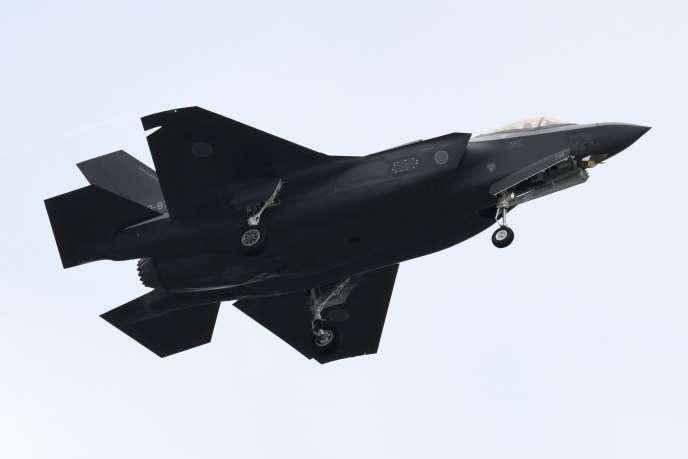 Un avion de combat F-35, dont s'équipera l'armée de l'air belge.