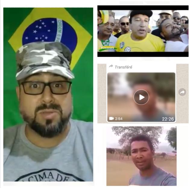 Montage de vidéos ayant circulé sur WhatsApp pendant l'élection présidentielle brésilienne.