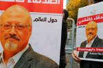 Des amis du journaliste saoudien Jamal Khasahoggi manifestent devant le consulat de l'Arabie saoudite à Istanbul, 25 octobre 2018.