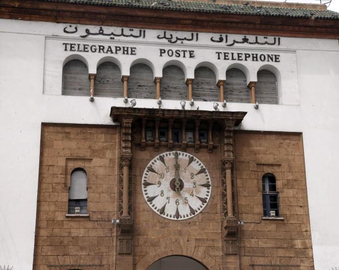 L'horloge de la poste de Rabat.