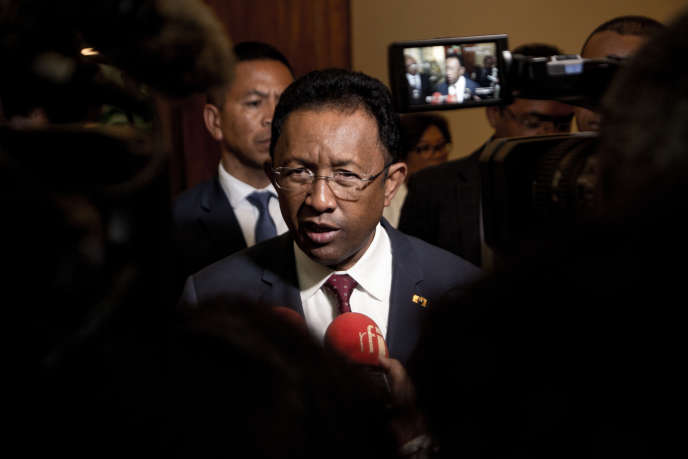 Le président malgache, Hery Rajaonarimampianina, à Antananarivo, le 7septembre 2018.