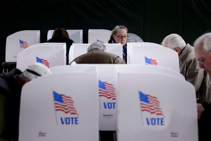 Bureau de vote à Potomac (Maryland), le 25 octobre (vote anticipé).