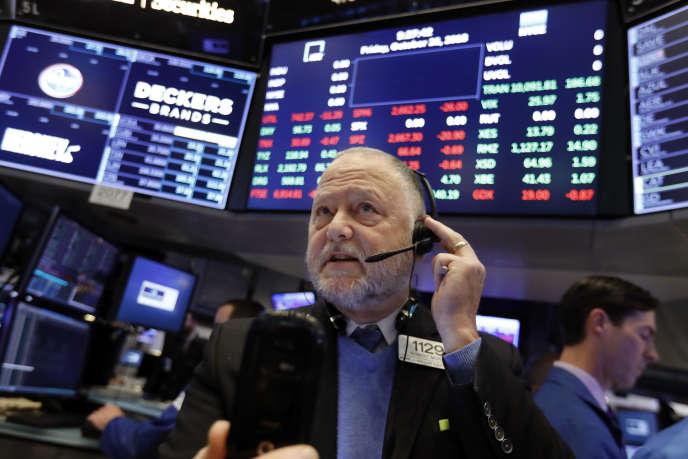 Un trader de Wall Street, le 26 octobre.