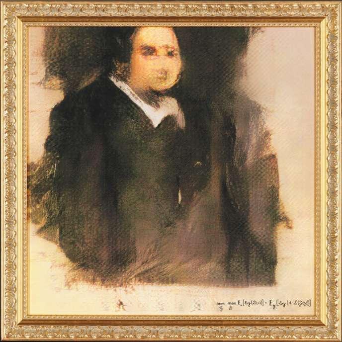 La toile vendue par Christie's est une impression d'image numérique.