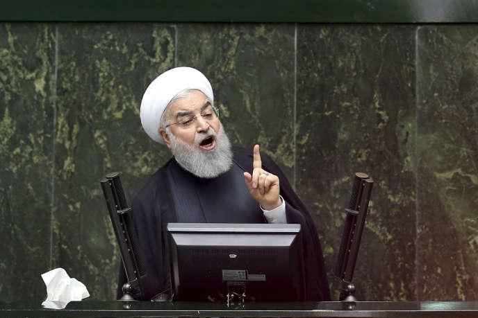 Le président iranien Hassan Rohani au Parlement, le 27 octobre, à Téhéran.