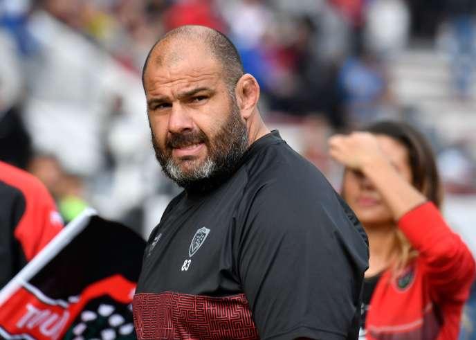 Patrice Collazo, le 14 octobre, avant le match Toulon-Newcastle.