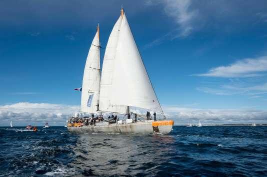 L'arrivée de l'expédition Tara à Lorient (Morbihan), après deux ans et demi d'étude des coraux dans le Pacifique, le 27 octobre.