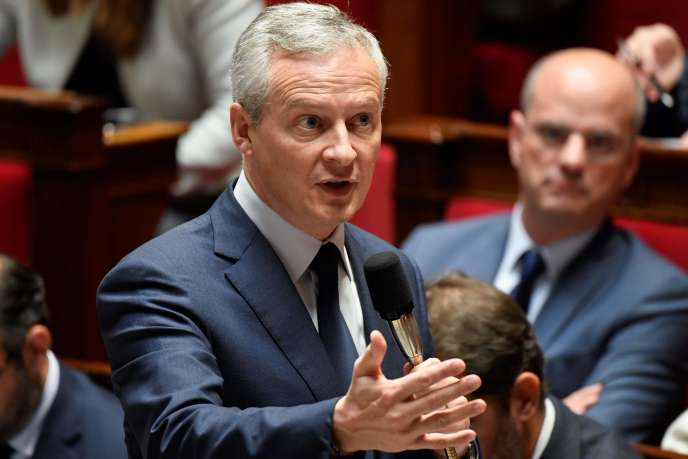 Le ministre de l'économie et des finances,Bruno Le Maire, à l'Assemblée nationale, mercredi 24 octobre.