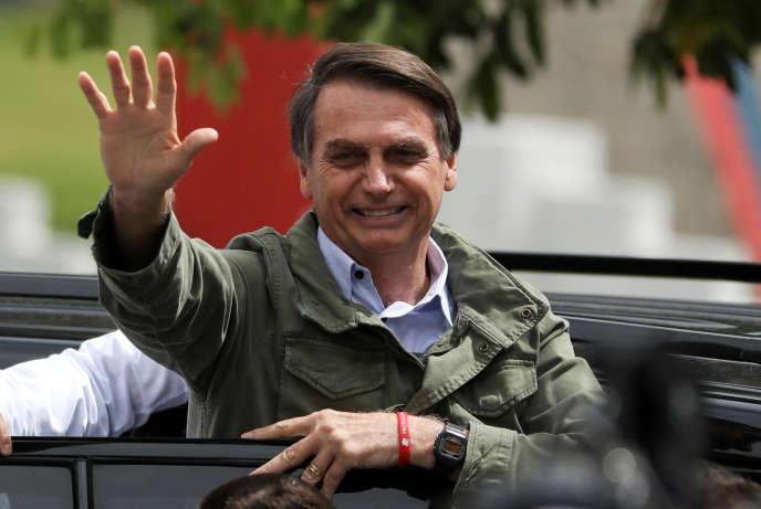 Jair Bolsonaro, le 28 octobre à Rio de Janeiro.