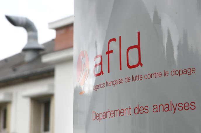 L'entrée du département des analyses de l'Agence française de lutte contre le dopage (AFDL) à Châtenay-Malabry.