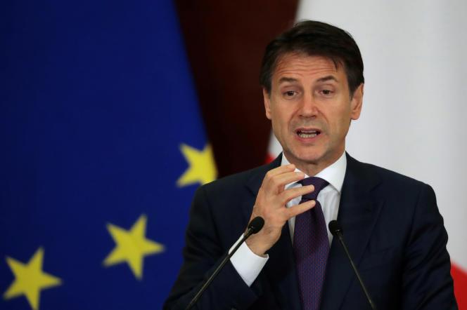 Le premier ministre italien, Giuseppe Conte, à Moscou (Russie), le 24 octobre.