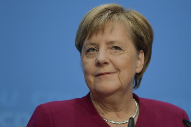 Conférence de presse d'Angela Merkel, le 29 octobre.