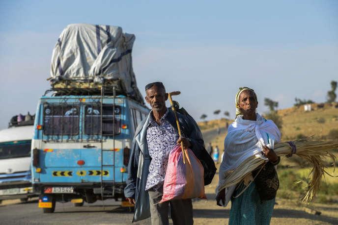 Début octobre 2018, du côté éthiopien de la frontière avec l'Erythrée, réouverte le 11septembre.
