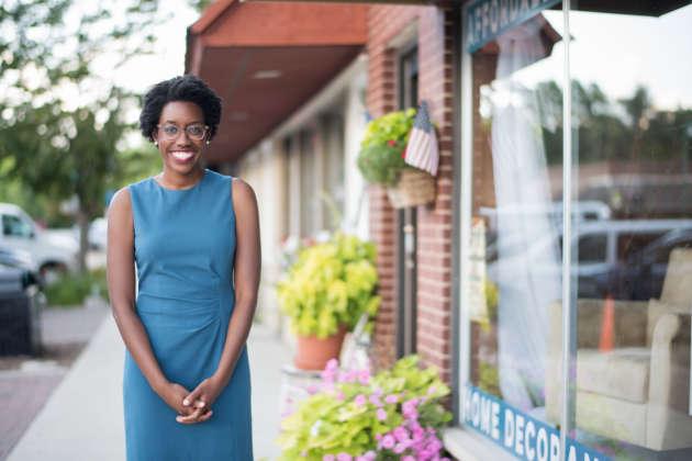 La candidate démocrateà la Chambre des représentants, Lauren Underwood, en juillet.