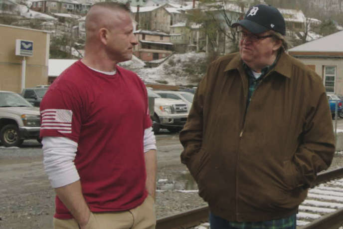 Michael Moore à Flint, dans le Michigan, pour son documentaire « Fahrenheit 11/9 ».