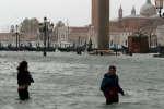 Venise sous les eaux le 29 octobre 2018.