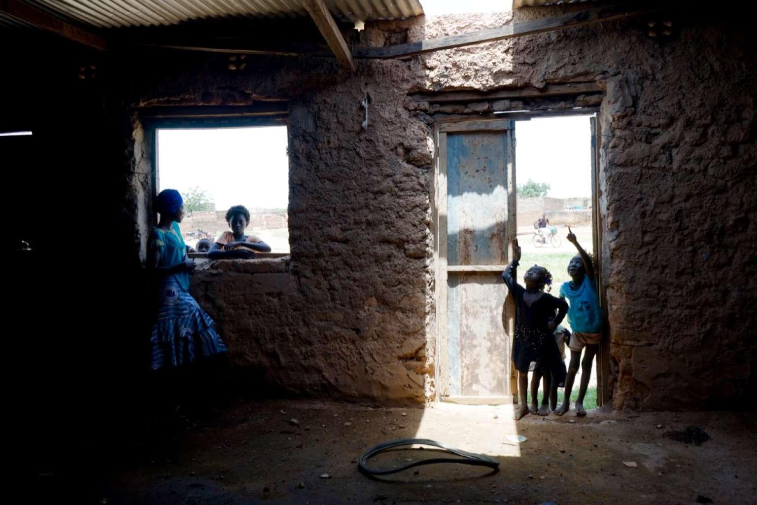 Les locaux d'une école clandestine, au Burkina Faso, en octobre 2018.