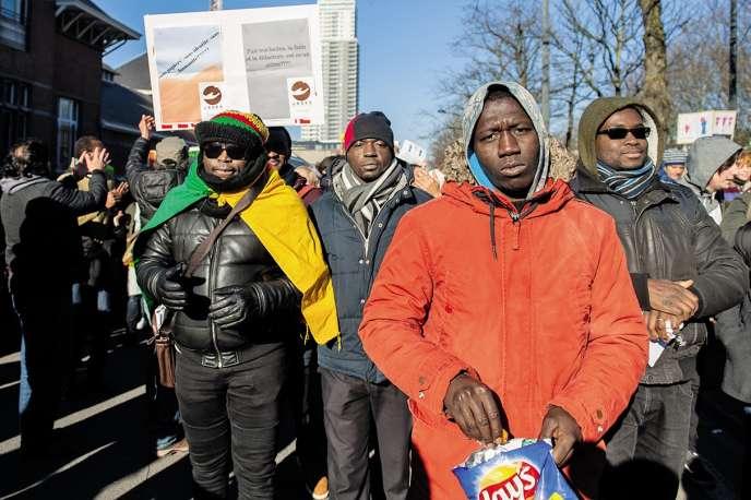 Une manifestation à Bruxelles en soutien aux réfugiés en février 2018.