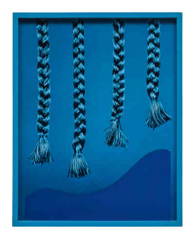 « Four Braids (Blue)», 2012.