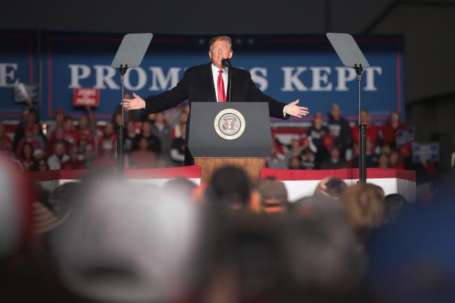 Le président américain, Donald Trump, lors d'un discours prononcé à Murphysboro, dans l'Illinois, le 27 octobre.
