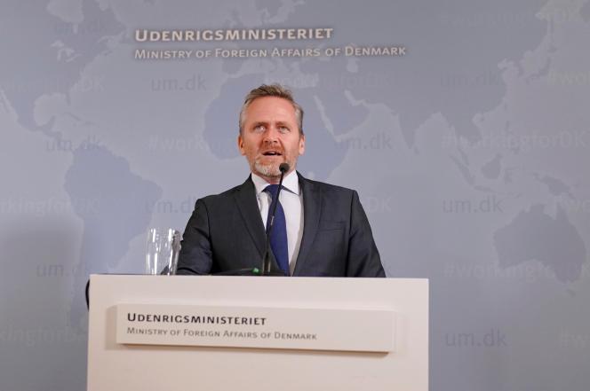 Le ministre des affaires étrangères danois, Anders Samuelsen, le 30 octobre à Copenhague.