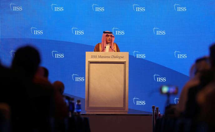 Le chef de la diplomatie saoudienne, Adel Al-Joubeir, le 27 octobre, à Manama.