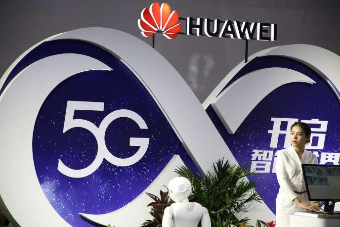 Le stand de Huawei à la PT Expo, à Pékin, le 28 septembre 2018.