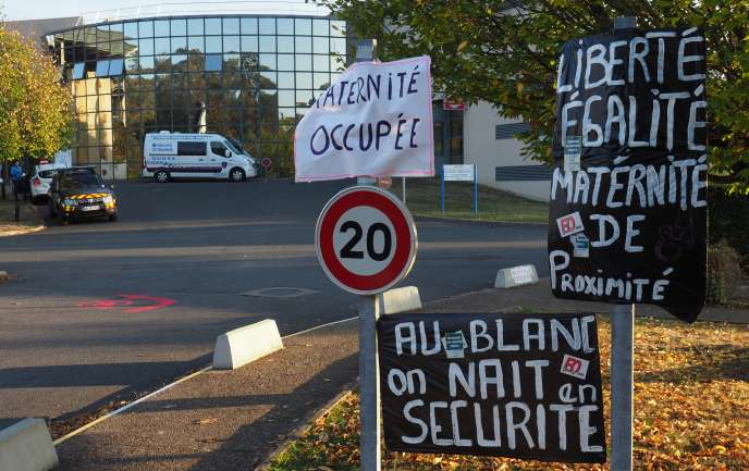 La maternité occupée du Blanc (Indre) le 22 octobre 2018.