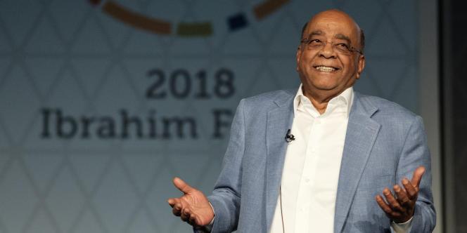 Le milliardaire anglo-soudanais, Mo Ibrahim, en 2018, à Kigali.