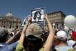 En 2012, une manifestation pour demander la justice pour Emanuela Orlandi, fille d'un membre de la police vaticane, qui a disparu le 22 juin 1983.