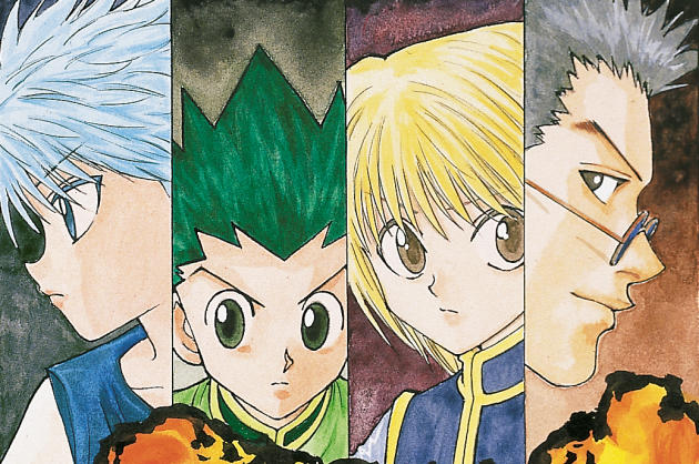 Un aperçu du dessin de la couverture du tome 10 de« Hunter X Hunter» deYoshihiro Togashi.