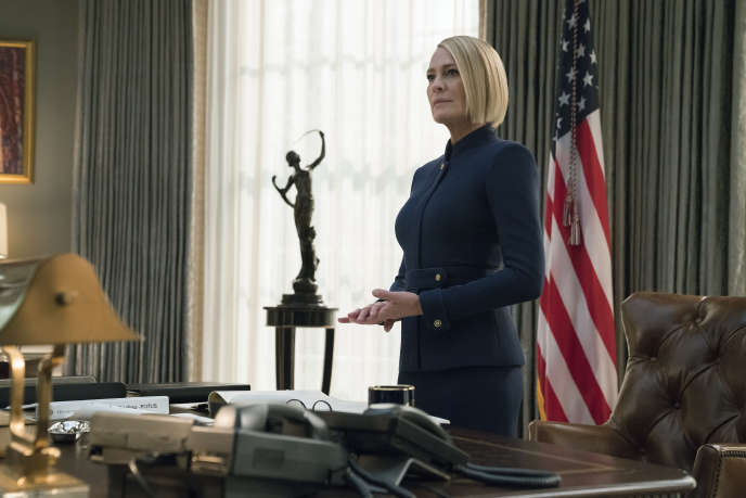 Robin Wright interprète Claire Underwood dans la saison 6 de la série « House of Cards ».