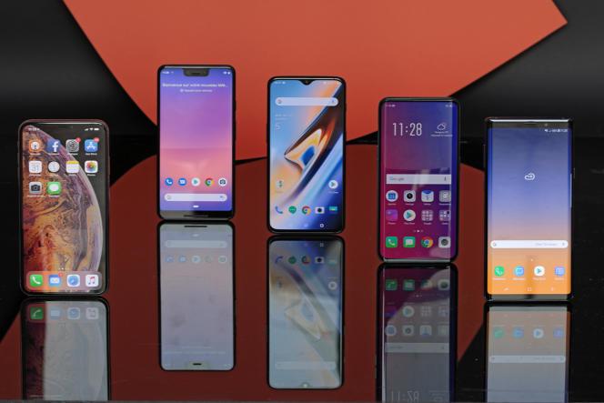 Les cinq meilleurs smartphones XL sont tous dotés d'écrans aux marges rabotées.